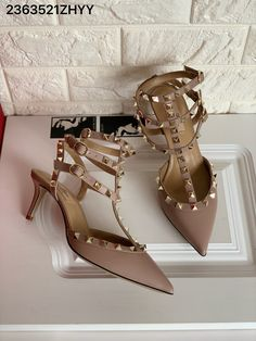 Saint Laurent Shoes, Short Heels, Valentino Women, Pink Sandals, Fashion Over 50, Footwear, Nude, Shoe, Shoes