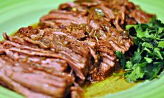 slow Cooker Flank Steak - Easy to make and results with a tender flank steak with lots of kick!