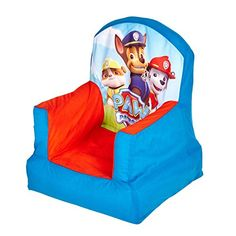 Product Description Get cosy and join Chase and the rescue pups after a fun day of play with the Paw Patrol Cosy Chair. This Paw Patrol kids' chair inflates in a matter of minutes and features a soft . Paw Patrol Gifts, Letters And Numbers, Cosy, Giraffe, Baby Car Seats, Bean Bag Chair, Children, Kids, Pup