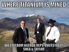 The Washington state team is where Titanium is mined Washington State, Utah, Back To School, Freedom, Politics, Mountains, American, Travel, Liberty