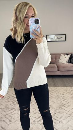 Stylish Winter Outfits, Winter Outfits Women, Fall Outfits, Fall Sweaters, Outfit Sets, Autumn Fashion, Vest, Clothes For Women, Denim