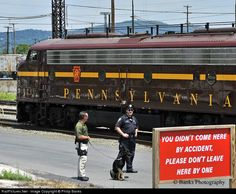 RailPictures.Net Photo: 5711 Pennsylvania Railroad EMD E8(A) at Enola, Pa, Pennsylvania by Philip Banks
