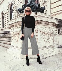 Midi Boy Bol Pantolon Trendi | Culotte Pants Ideas #pants #culotte #trends #midi #pantolon #summerfashion #outfits #sneaker #basic