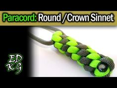 Simple Paracord: Box Lanyard Knot (Square Sinnet Fob) - YouTube