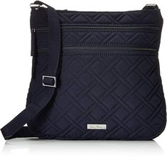 Vera Bradley Triple Zip Hipster 2 Cross Body Bag, Classic Navy, One Size Quilted cross-body bag with double zip pockets at front and adjustable strap Slim crossbody style Three separate zippered compartments Interior zip pocket w x h x d Best Crossbody Bag Travel, Travel Bags, Phone Wallet, Vera Bradley, Purses And Bags, Messenger Bag, Satchel, Hipster, Zip