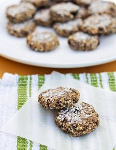 Cherry Chia Raw Macaroon Cookies are a delectable and health sweet treat!