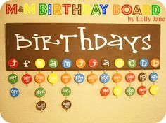 m birthday board by lolly jane. Birthday Board tutorial. These girls are amazing.