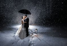 Take a Snowy Nighttime Photo