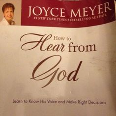 How to Hear from God -Joyce Meyer