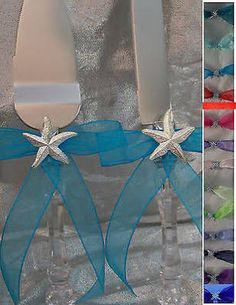 wedding cake knife set starfish
