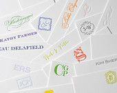 Letterpressed Custom Personal Stationery - Set of 50 - 1 color letterpress