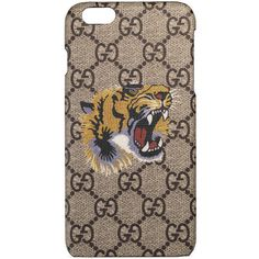 Gucci Tiger Print Iphone 6 Plus Case (585 BRL) ❤ liked on Polyvore featuring accessories, tech accessories, small accessories & tech, women and gucci