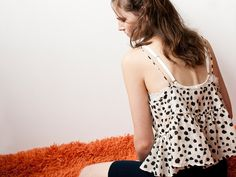 Lonely Drawstring camisole - Nude dot