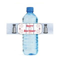 Birthday Hockey water bottle labels. Perfect for the special occasion. Hockey water bottle labels you can print. Instant download, no waiting.