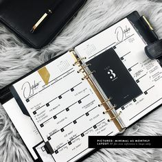 Dated Monthly Academic Year 2017 2018 Planner Inserts - A5, Marble