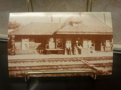 Erie Depot at Alfred Station, c. 1900
