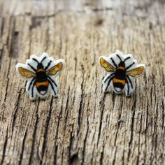 Bee Stud Earrings, Bumblebee Earrings £5.95