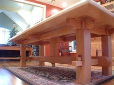 Craftsman Timber Frame Furniture - asian - dining tables - vancouver - Craftsman Timber Frame Ltd. Craftsman Furniture, Timber Furniture, Rustic Furniture, Furniture Projects, Furniture Plans, Diy Furniture, Furniture Design, Asian Dining Tables, Wood Joinery