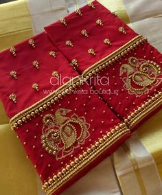 Designer blouse Bead and embroidery work<br> Patch Work Blouse Designs, Best Blouse Designs, Maggam Work Designs, Saree Blouse Neck Designs, Hand Work Blouse Design, Simple Blouse Designs, Stylish Blouse Design, Bridal Blouse Designs, Beadwork Designs