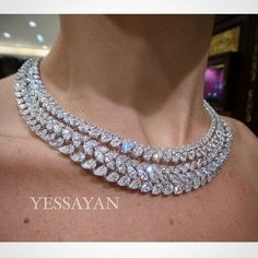 This is Who we are, this is What we do Best @Yessayan #Yessayan #DiamondNecklace #FancyDiamonds #Carats #White #Pear #Marquise