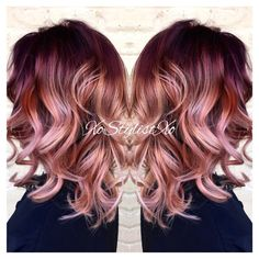 10 stunningly beautiful Rose Gold Hair styles (pin now read later!) 10 stunningly beautiful Rose Gold Hair styles (pin now read later!) Elm Drive Designs The post 10 stunningly beautiful Rose Gold Hair styles (pin now read later!) appeared first on Haar. Cabelo Rose Gold, Rose Gold Hair, Hair Color 2017, Hair Color And Cut, Color Del Pelo, Red Ombre Hair, Ombre Rose, Violet Ombre, Red Violet Hair