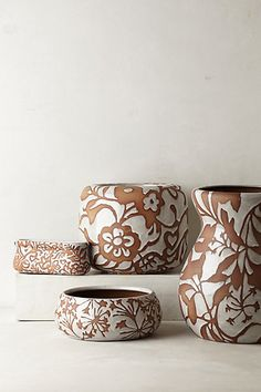 These plant pots are so beautiful!  Can't wait to get them.  Fresco Garden Pot - anthropologie.com  #Anthropologie #PinToWin