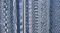 The African Fabric Shop : Shwe Shwe indigo-dyed blue print cotton fabric from South Africa