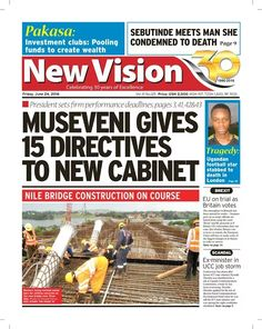 Don't miss out on timely news and information only in the New Vision,now on sale here-https://vpg.visiongroup.co.ug/flippaper/personal/