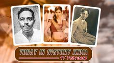 History Of India, Today In History, Feb Special Day, What Is Today, February, Birthdays, Indian, Baseball Cards, Events