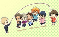 Haikyuu!!! So cute :3 (OMG I remember group jump rope from elementary school I literally forgot about it and now I feel nostalgic.)