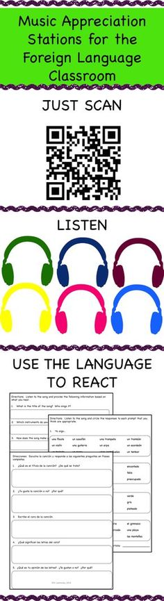 Easy to create Spanish Music Appreciation listening stations in your classroom