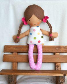 Soft Doll Rag Doll Cloth Baby doll Softie Textile Doll by SenArt1