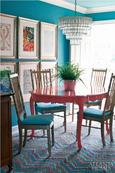 Colorful Dining Table Design by Be Inspired Live Inspired