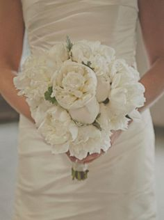 We love a classic white on #white bouquet! {Patrick Hadley Photography}