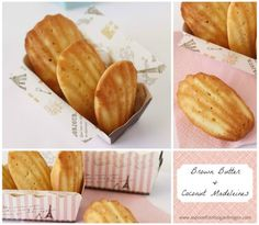 Brown Butter and Coconut Madeleines - A Spoonful of Sugar