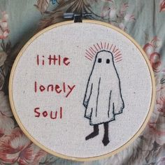 little lonely soul - embroidery Embroidery Art, Embroidery Stitches, Embroidery Patterns, Art Inspo, Needlework, Creations, Cross Stitch, Artsy, Sketches