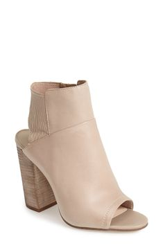 Crushing on these open toe booties for spring!