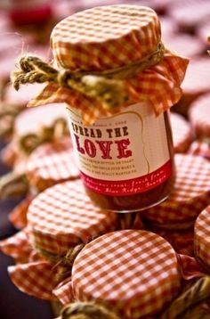 Spread the love, adorable favor! From the local farmers market with wedding colors could be honey