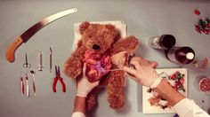 Teddy Has An Operation - I know it's supposed to be sweet but it's horribly disturbing.  They pulled a HUNK OF MEAT out of Teddy!