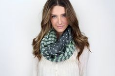 chunky polka dot infinity scarf MORE COLORS mint by gertiebaxter, $27.50
