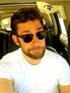 When he grew this beard and made this face and wore these sunglasses.   34 Times John Krasinski Was The Most Perfect Man Alive