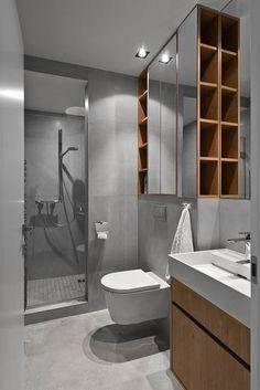 Išplanavimas, kuris puikiai tiktų sujungus vonios kambarį su WC.