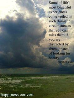 Look for beauty quote via www.Facebook.com/HappinessConvert