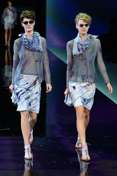 Giorgio Armani Primavera 2014 Semana de la moda de Milán Revista Ellas