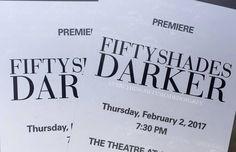 Tickets from Fifty Shades Darker Premiere #fiftyshades #fiftyshadesdarker