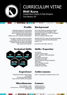 Personal Resume by Didi Kasa, via Behance