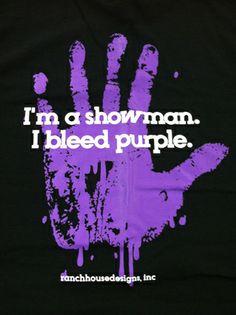 I Bleed Purple Shirt $16.99 from Agrarian Apparel http://www.stockshowsweethearts.com/i-bleed-purple-shirt/