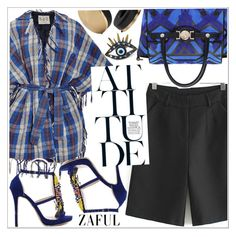 """""""Zaful"""" by teoecar ❤ liked on Polyvore featuring Sea, New York, Versace, Frends and zaful"""