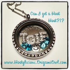 Make a statement that says it all without saying a word!!  www.Hootylicious.OrigamiOwl.com