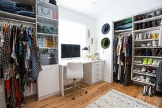 Grasie worked with California Closets to completely retrofit the space and fit her custom needs.